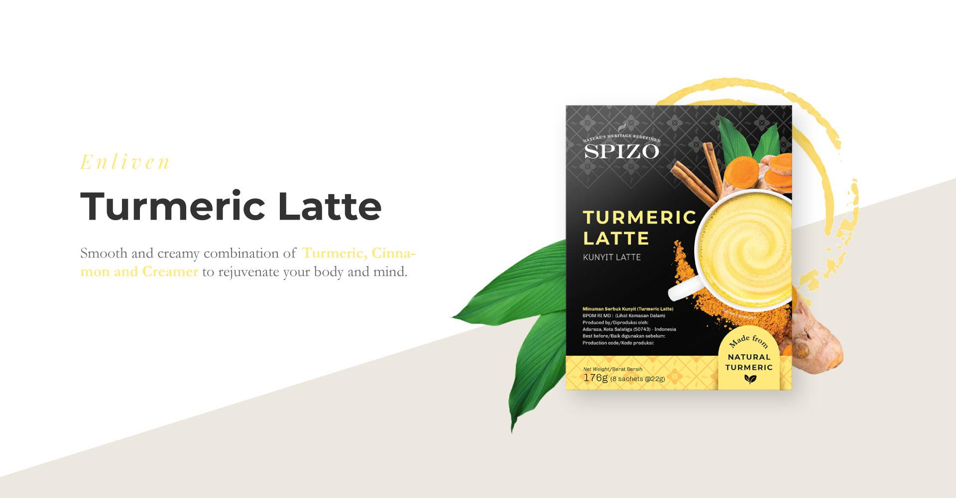 Turmeric Latte Golden Milk Spizo Premium Heritage Drink